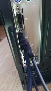 Trasera pc conexión adaptador detalle