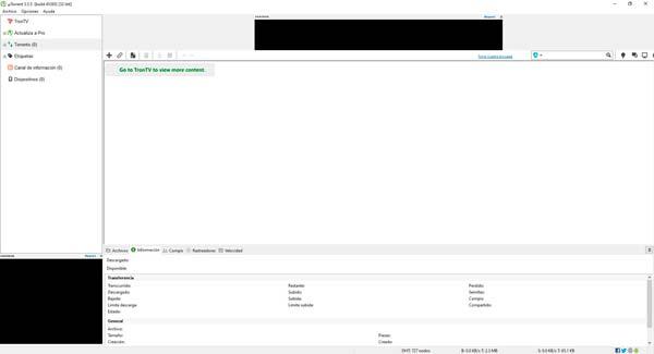 Utorrent pantalla principal
