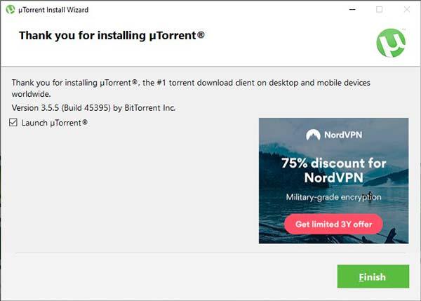 Utorrent instalar completado